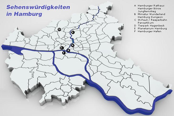 Hamburg Karte Sehenswurdigkeiten.Sehenswurdigkeiten In Hamburg